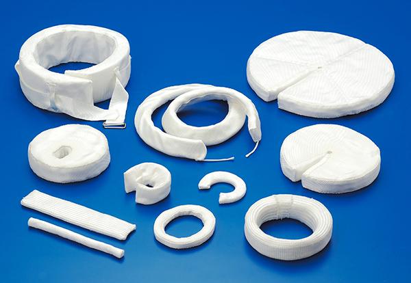 Thermal insulating rings (application of ceramic fiber